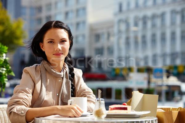 Girl in cafe Stock photo © pressmaster