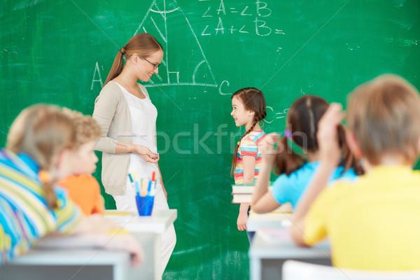 Сток-фото: формула · портрет · Smart · учитель · Постоянный