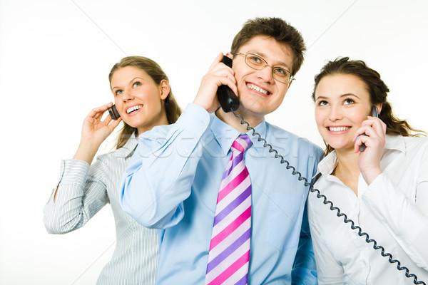 призыв изображение деловые люди бизнеса женщину свет Сток-фото © pressmaster