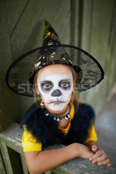 Halloween dziecko portret cute dziewczyna kostium Zdjęcia stock © pressmaster