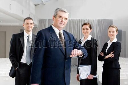 Сток-фото: бизнеса · Союза · портрет · улыбаясь · Бизнес-партнеры