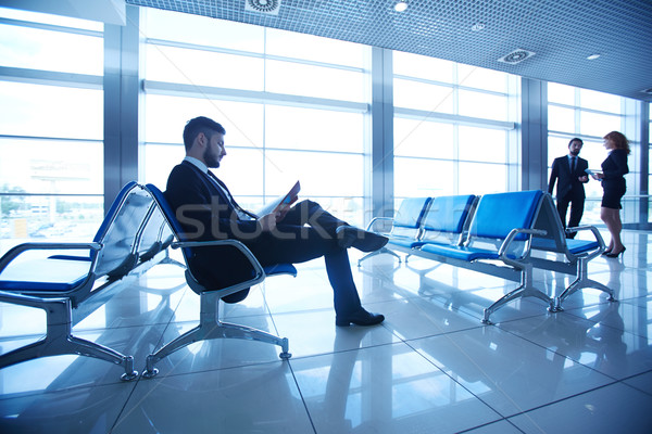 Stock photo: Businessman reading