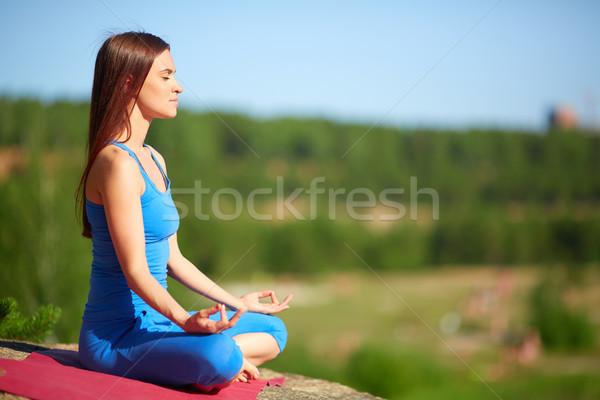 Сток-фото: мира · профиль · женщину · расслабляющая · создают