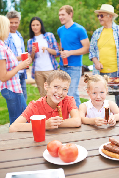 Kids eating Stock photo © pressmaster