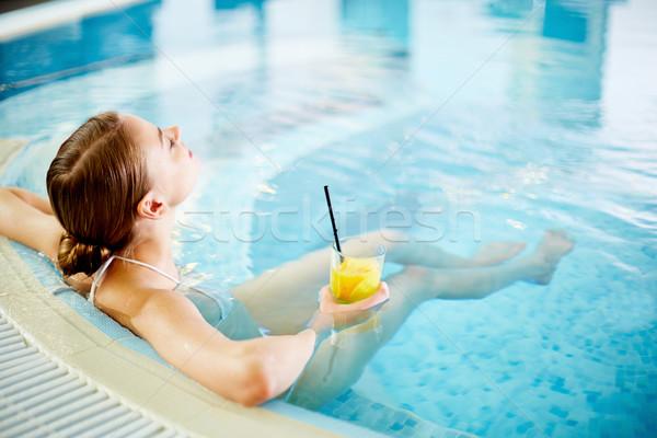 Foto d'archivio: Spa · break · donna · piscina · acqua