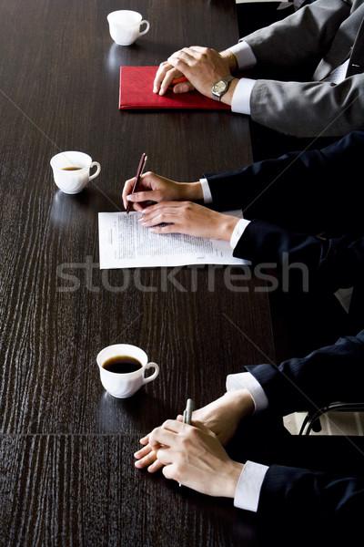 безмолвный разговор человека рук черный таблице Сток-фото © pressmaster