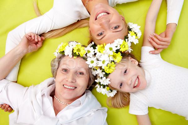 ストックフォト: グループ · 女性 · 肖像 · 祖母 · 母親 · 少女