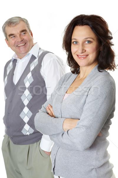 Férj feleség portré néz kamera mosolyog Stock fotó © pressmaster