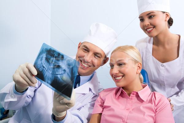 Showing x-ray photography Stock photo © pressmaster