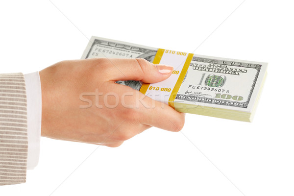 Dollars in hand   Stock photo © pressmaster