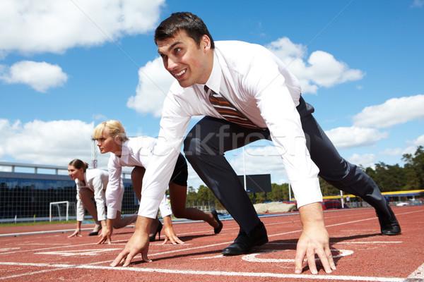 внимание изображение бизнесмен готовый гонка два Сток-фото © pressmaster