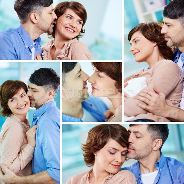 Flertar colagem feliz casal Foto stock © pressmaster