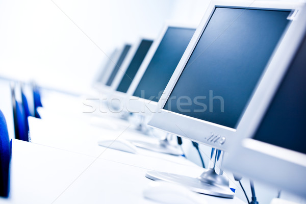 Stock photo: Computer classroom