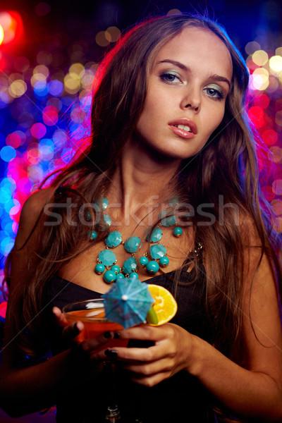 Stock fotó: Flancos · klubber · függőleges · portré · káprázatos · fiatal · nő