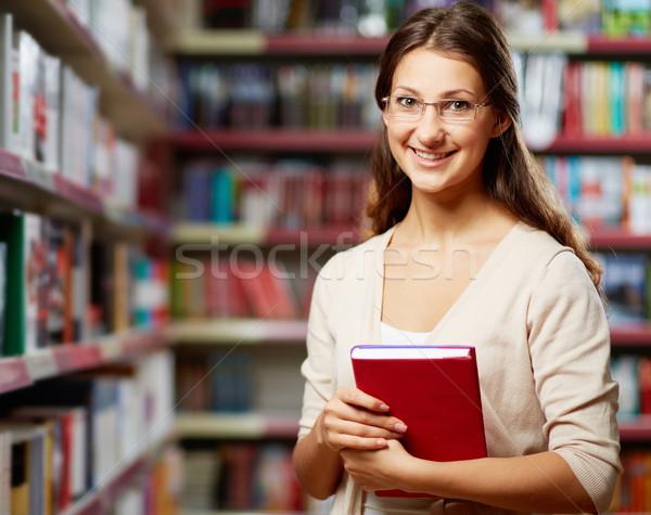 Leitor retrato inteligente estudante livro faculdade Foto stock © pressmaster