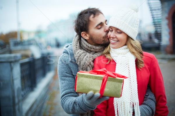 Giving present Stock photo © pressmaster