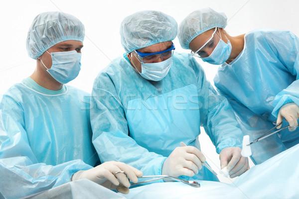 Zdjęcia stock: Chirurgii · trzy · człowiek · lekarza · pracy