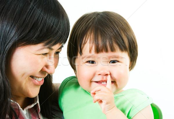 Cuki kép boldog anya néz aranyos Stock fotó © pressmaster
