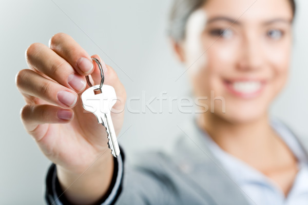 Stock photo: Holding key