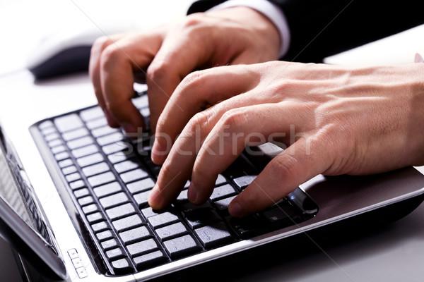 человека рук горизонтальный изображение набрав бизнеса Сток-фото © pressmaster