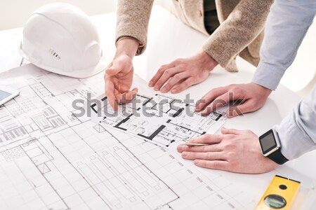Stock photo: Discussing scheme