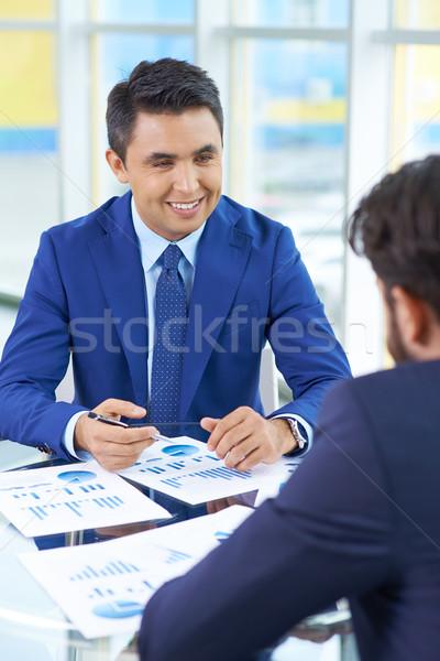 Interviewing man Stock photo © pressmaster