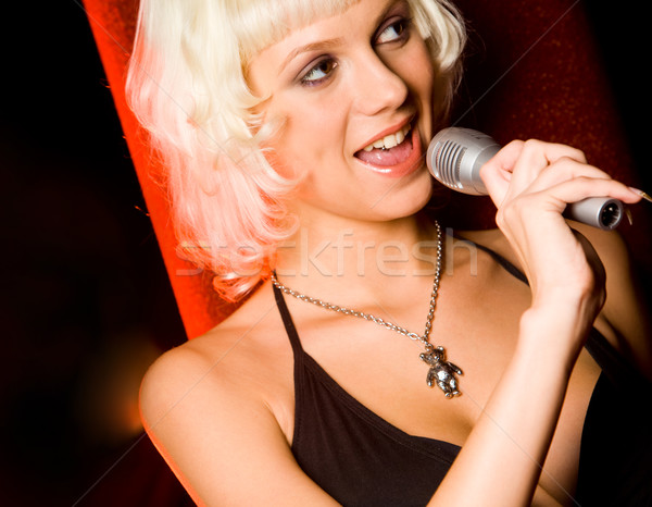 Singing Stock photo © pressmaster
