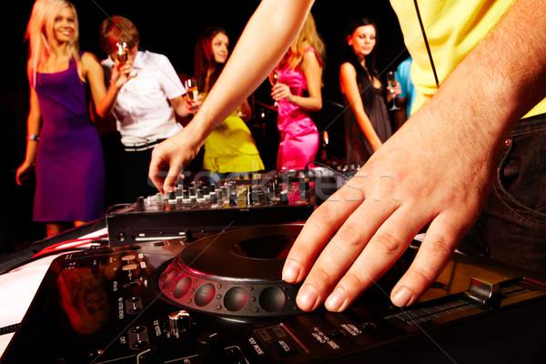 Photo stock: Turntable · main · humaine · groupe · danseurs · musique