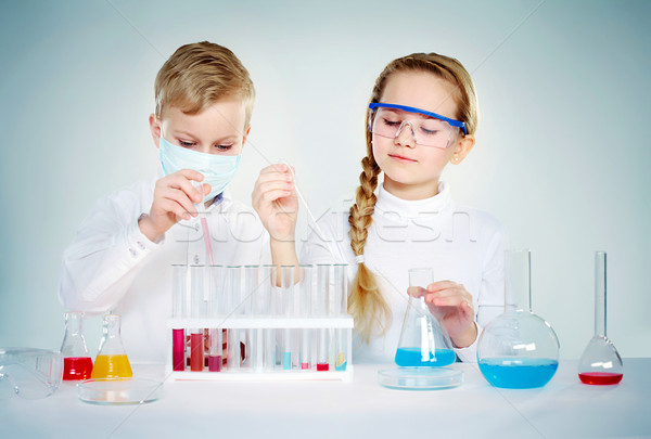 Children scientists  Stock photo © pressmaster