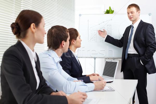 Negócio seminário três escuta professor Foto stock © pressmaster