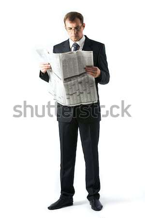 Boss at reading Stock photo © pressmaster