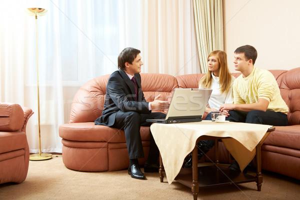 Home consulenza imprenditore casa computer Foto d'archivio © pressmaster