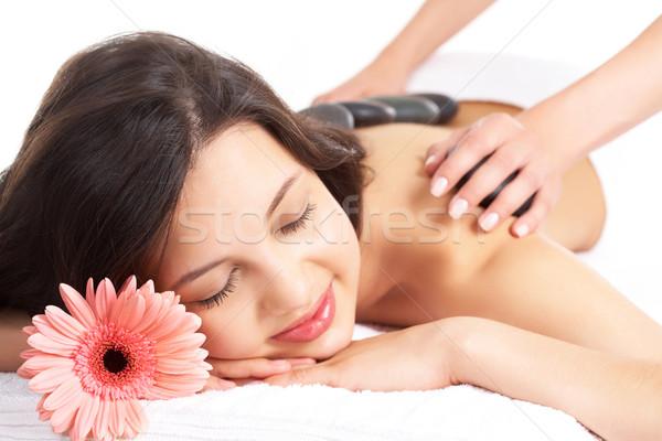 Foto stock: Mulher · relaxante · retrato · feminino