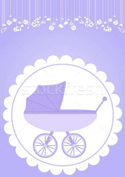 乳母車 バイオレット 少年 抽象的な 子 ストックフォト © pressmaster