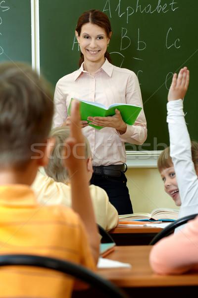 知識 肖像 スマート 教師 練習帳 見える ストックフォト © pressmaster