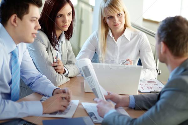 Office teamwork Stock photo © pressmaster