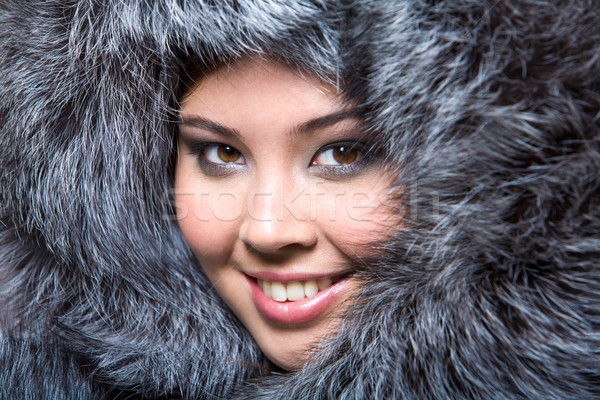 Face in furs Stock photo © pressmaster
