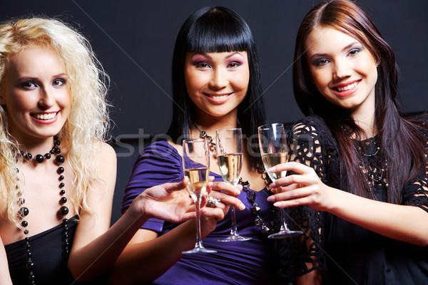Kızlar portre üç moda Stok fotoğraf © pressmaster