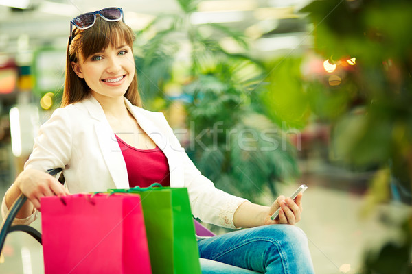 Restful customer Stock photo © pressmaster