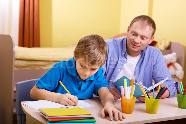 Doing schoolwork Stock photo © pressmaster