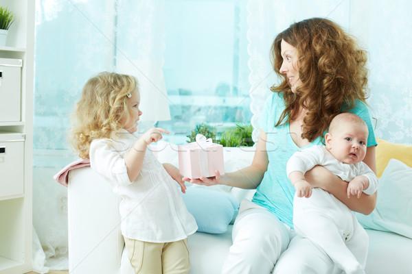 ストックフォト: お誕生日おめでとうございます · ママ · 美 · 現在 · 少女