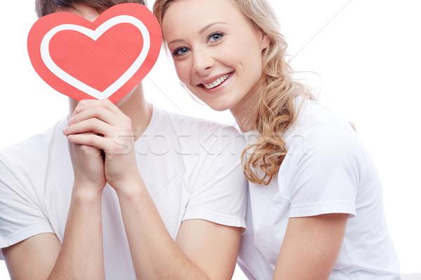 Сток-фото: любви · портрет · счастливым · глядя