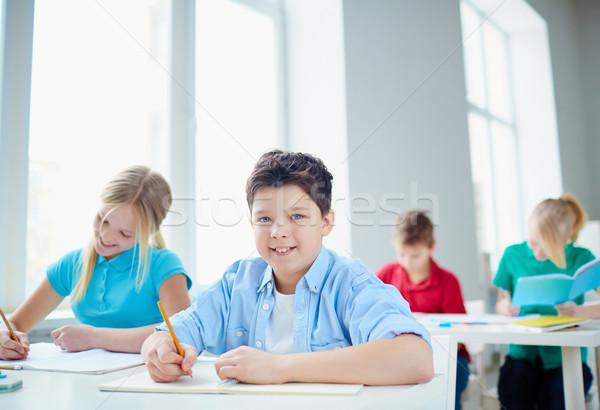Drawing at lesson Stock photo © pressmaster