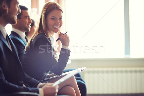 Negócio palestra pessoas de negócios sessão seminário Foto stock © pressmaster
