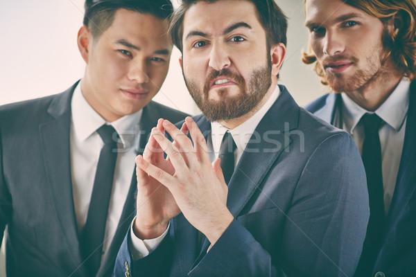 Wicked businessman Stock photo © pressmaster