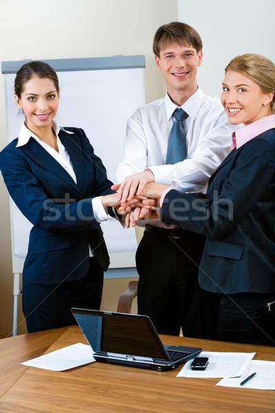 Zdjęcia stock: Działalności · współpraca · obraz · trzy · stałego