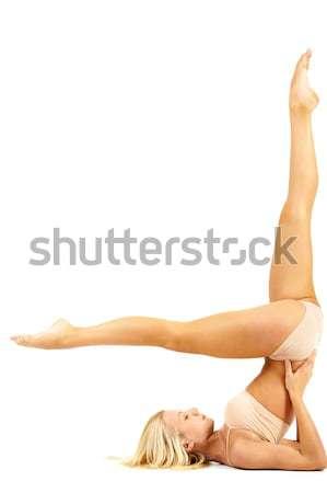 Difficile exercice image femme permanent Retour Photo stock © pressmaster