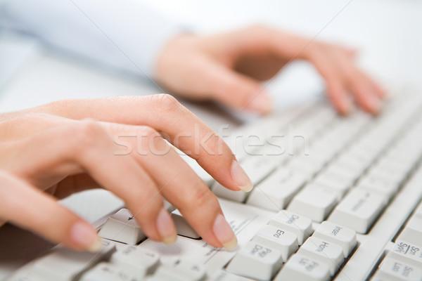 набрав работу женщины стороны прикасаться Сток-фото © pressmaster