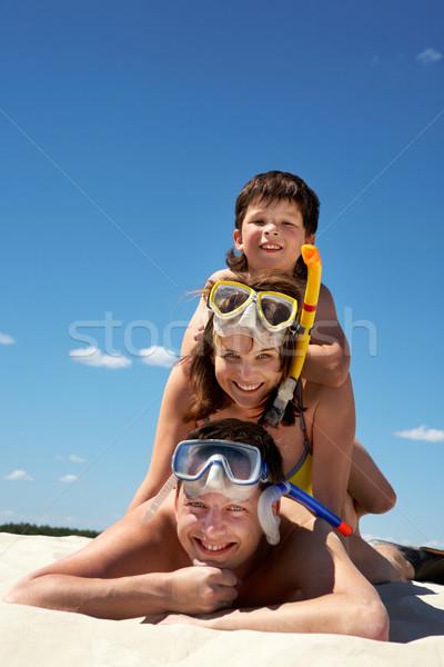 Family of divers Stock photo © pressmaster