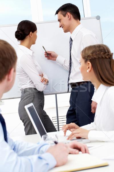 Seminar Foto erfolgreich Geschäftsmann etwas Stock foto © pressmaster
